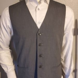Men's Pronto Blue Grey Cotton Vest Size Large